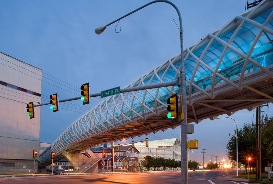 Pedestrian Bridge For Museum Of Flight Jesse Co